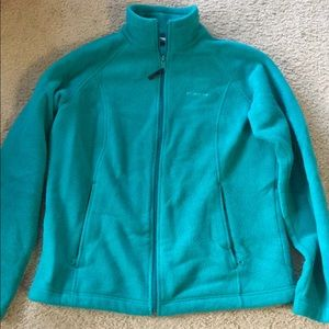 COLUMBIA PULLOVER 1/2 ZIP WARM TEAL LARGE